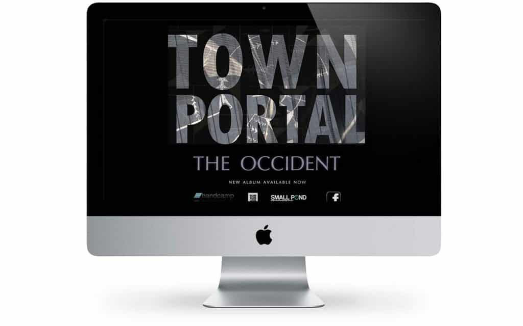 animated teaser for the band townportal from copenhagen, using aftereffects