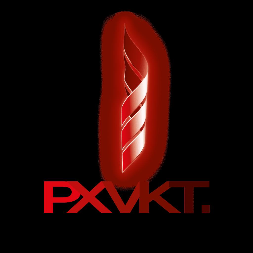 Logo PXVKT, Glowing Logo, glühendes Logo