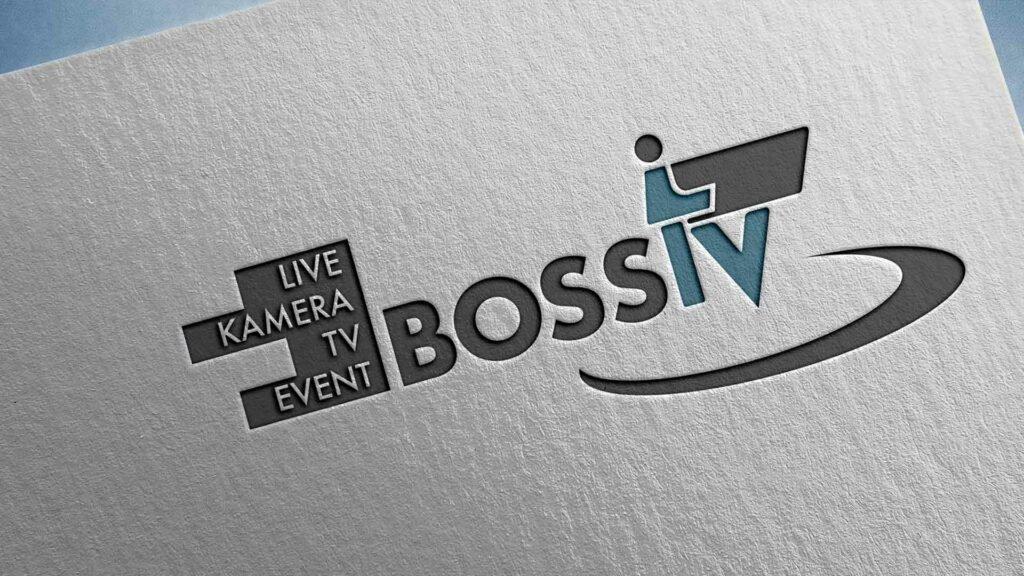 Logodesign Cameraman-Bossi.tv, Logo Movie company, logo tv production, Kameramann Logo, logo design Camera operator